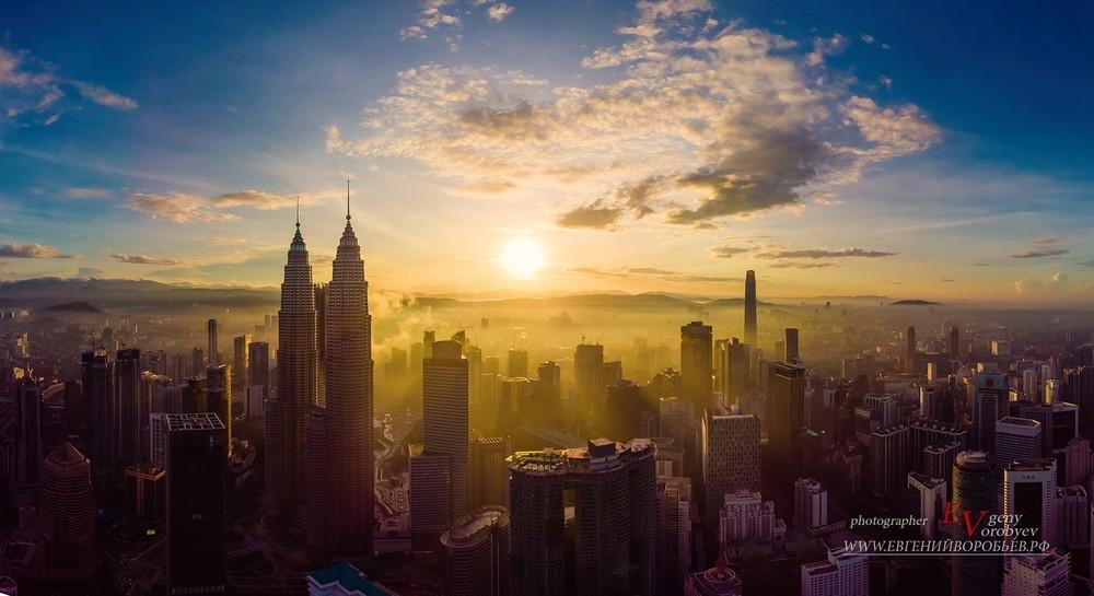 Kuala Lumpur  Куала-Лумпур  съемка с дрока квадрокоптер  Пхукет Phuket
