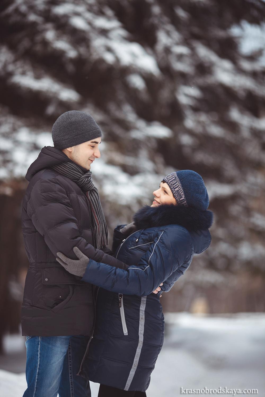 В ОЖИДАНИИ - Kate & Maks - Фотосессия Кати и Максима зимняя лав стори в ожидании малыша