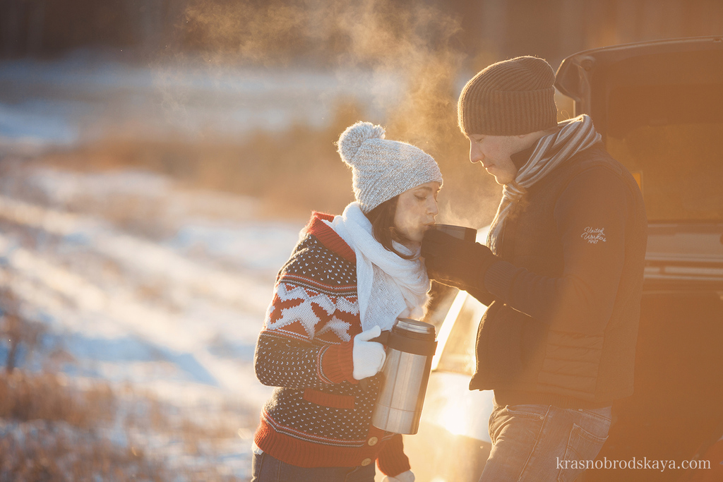 Love story - Love Story Alina & Dennis - Зимняя фотосессия в стиле Лав стори Алины и Дениса
