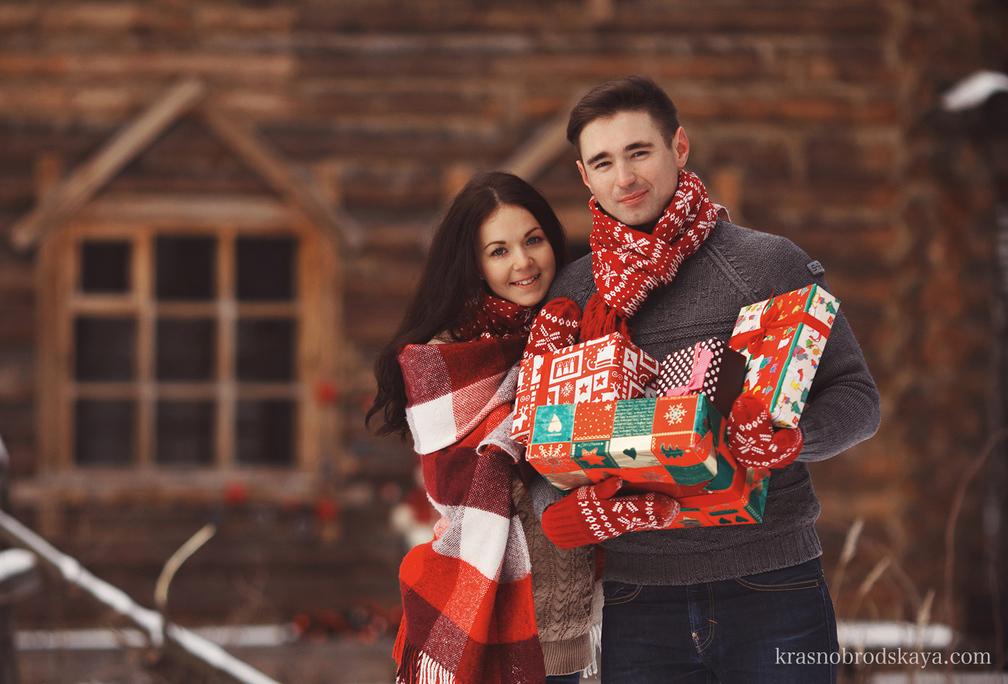 Love story -  Christmas Love Story Katya & Sergey  - Новогодняя Love story фотосессия от Краснобродских