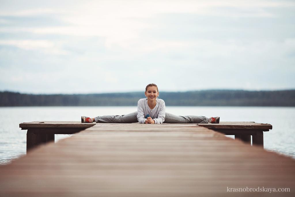 ПОРТРЕТЫ - Irina little gymnast - Индивидуальная фотосессия Ирины маленькой гимнастке от семейных фотографов Краснобродских