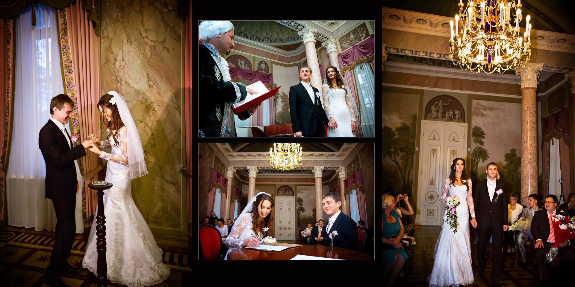 Альбомные развороты с разных свадеб