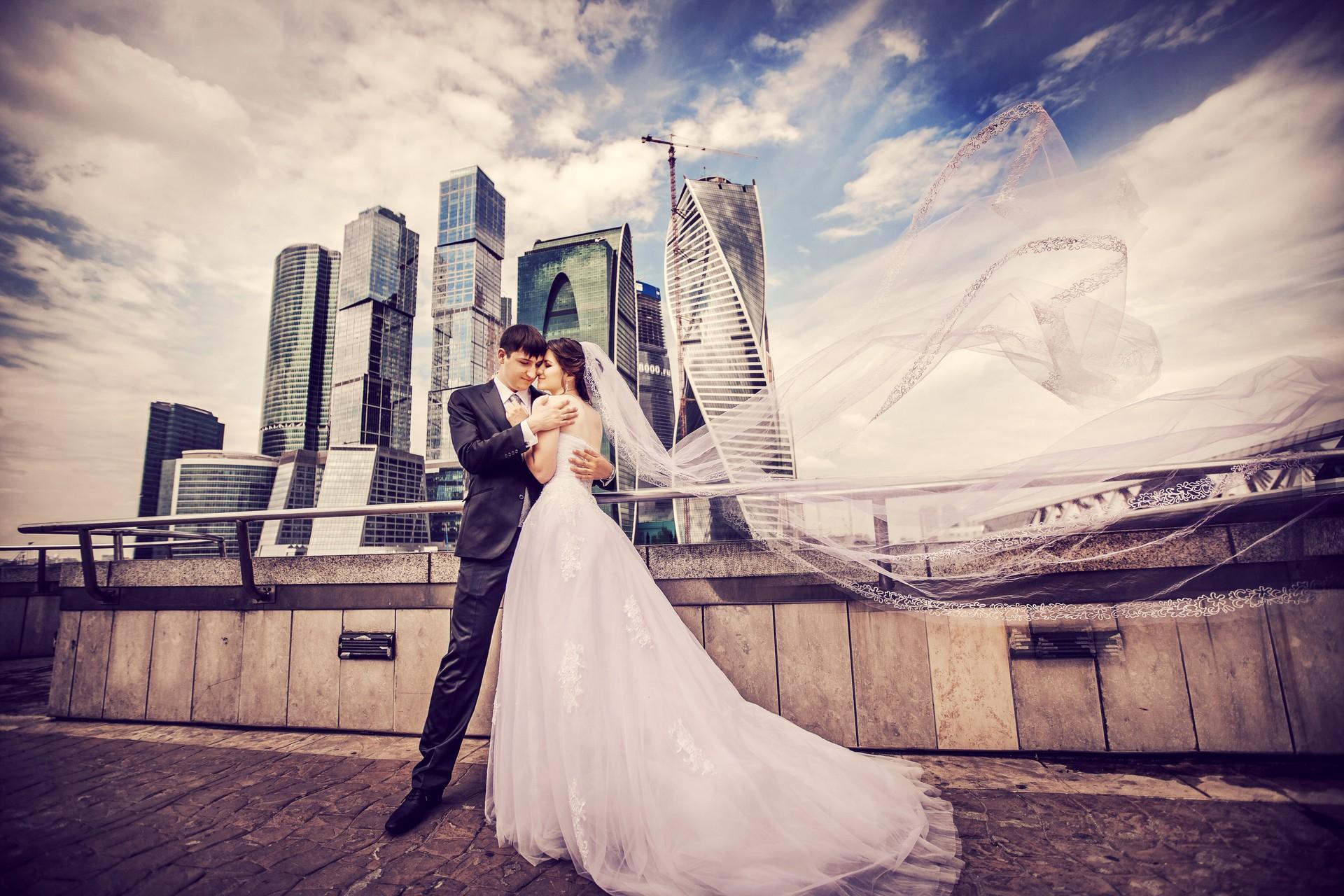 Свадебная фотосъемка мост Багратион