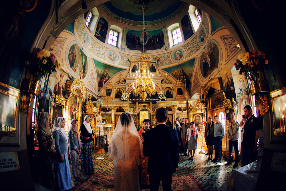 Wedding at the Church, Moscow 2014