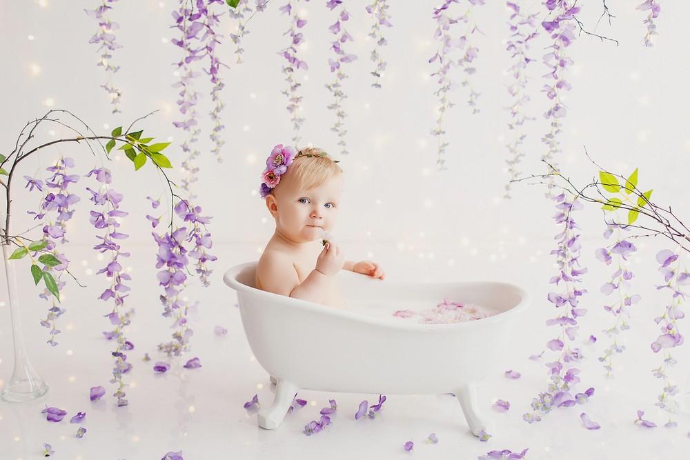 В ванночке до годика