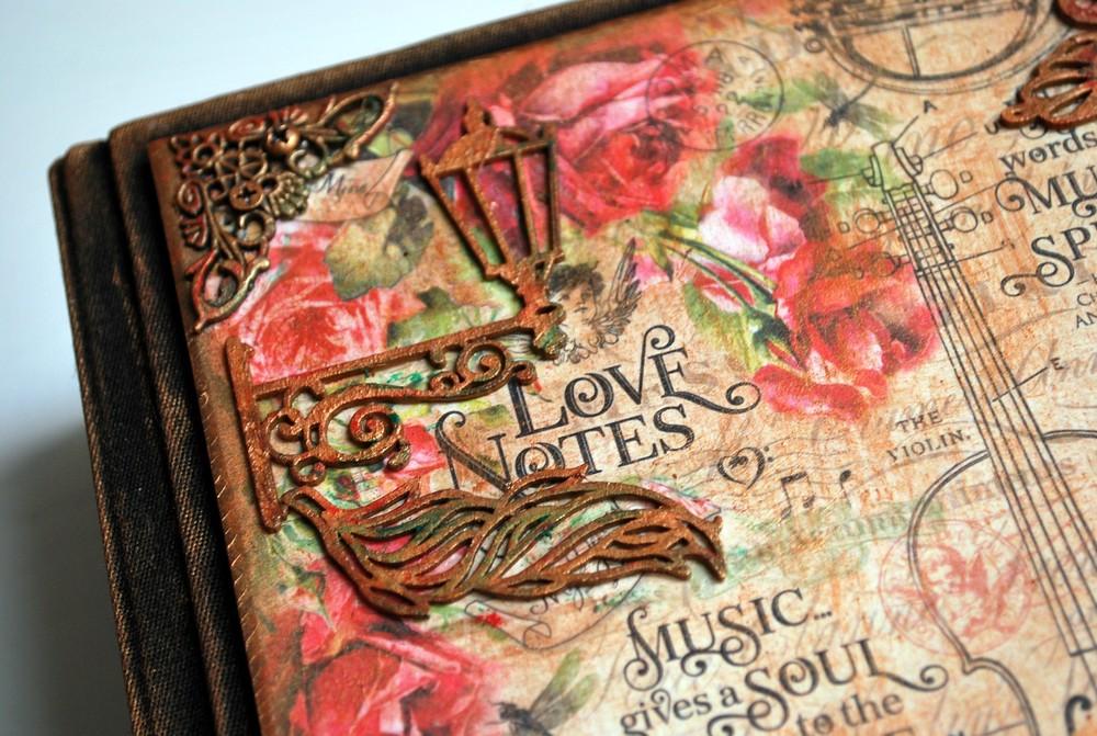 Фотоальбом ручной работы «Музыка любви».