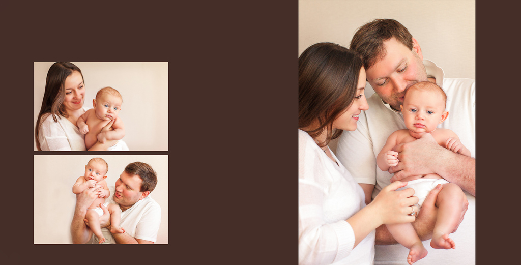 Фотокнига маленькой Ксении и ее семьи