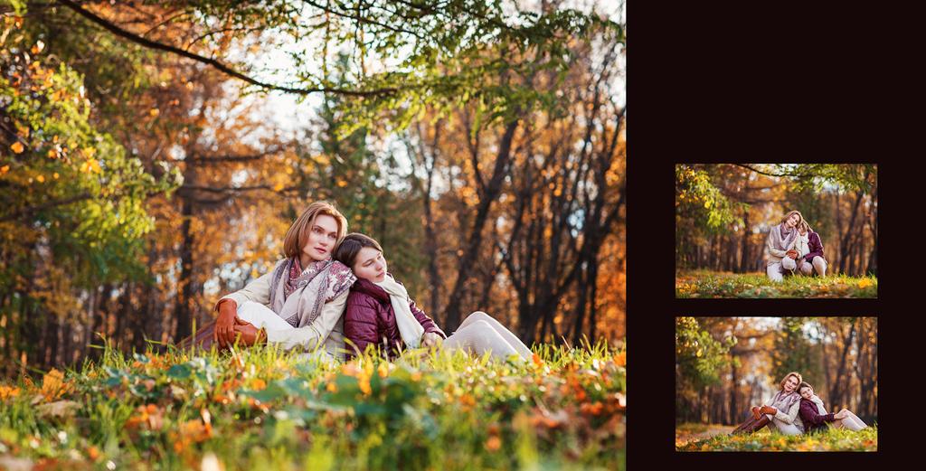 Яркая осень с Анастасией и Софьей