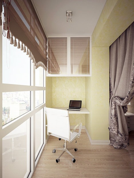 ФОТО-ГАЛЕРЕЯ - ИДЕИ внутренней отделки балконов (лоджий)