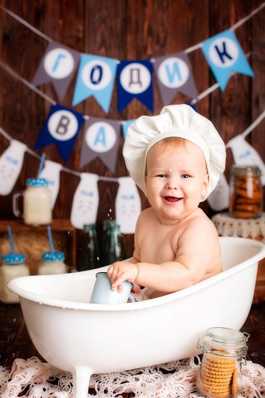 купание в ванночке воронеж, подарок на годовасие,сьемка годовасия в воронеже