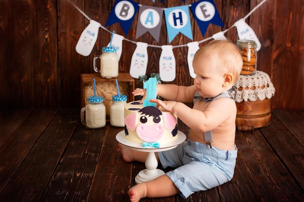 фотосессия на годик, детский фотограф воронеж, подарок на годик, крушение тортика воронеж