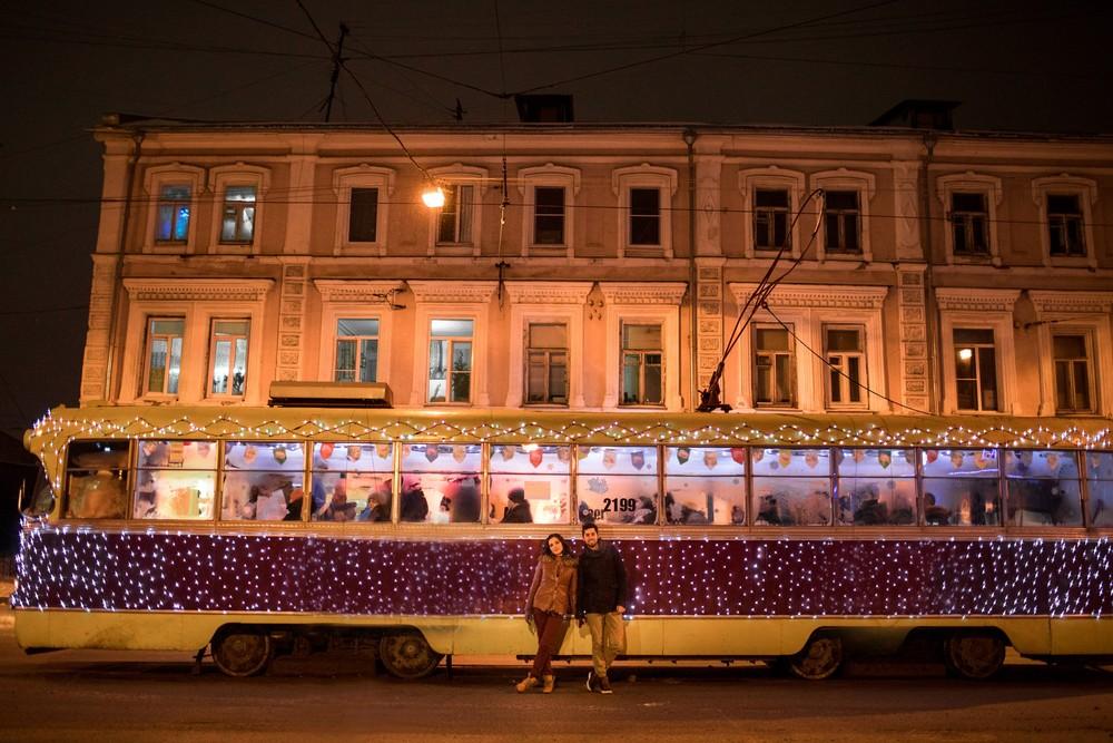 Зимнее трамвайное про любовь
