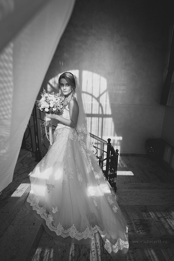 ЧБ свадебное фото