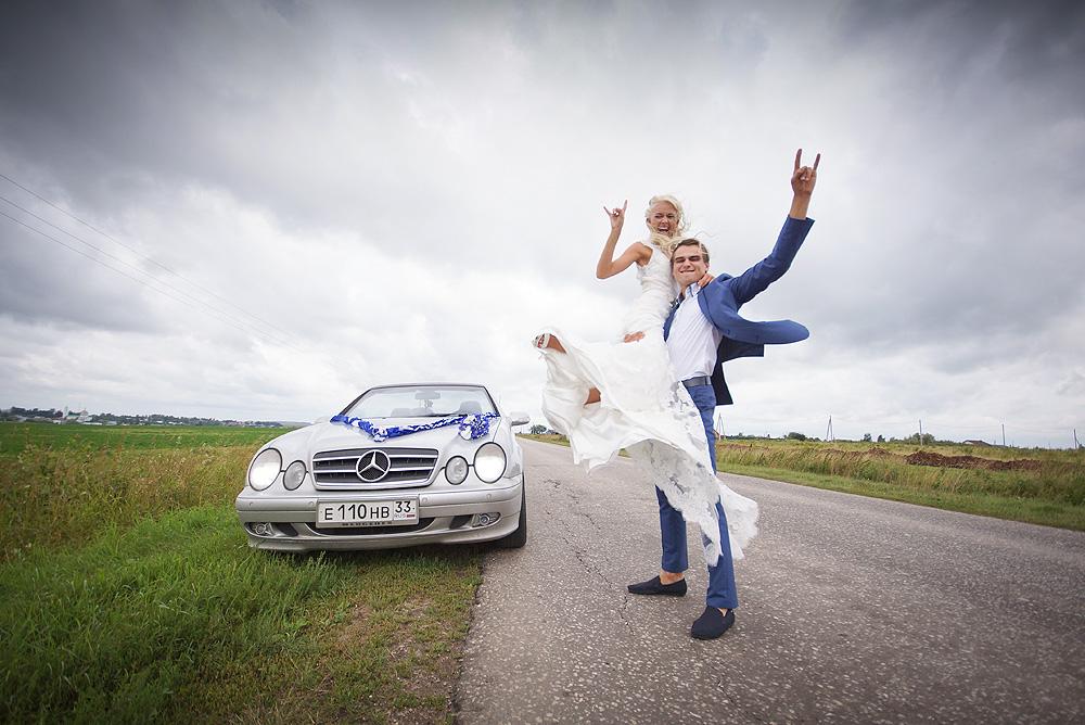 Динамичные фото на свадьбе