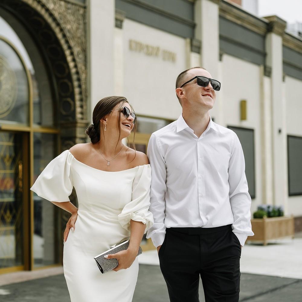 Свадебная городская прогулка Насти и Жени