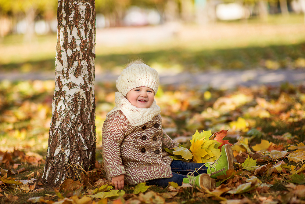 Детская фотосессия - Ангелина, осень