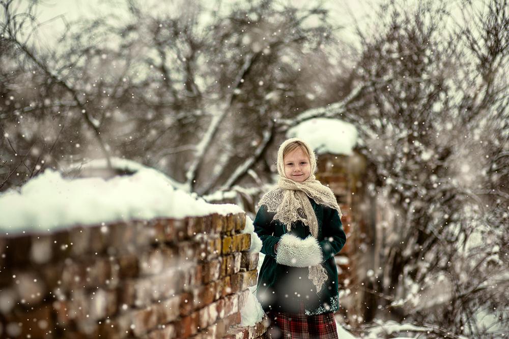 Детская фотосессия - Деревенская история