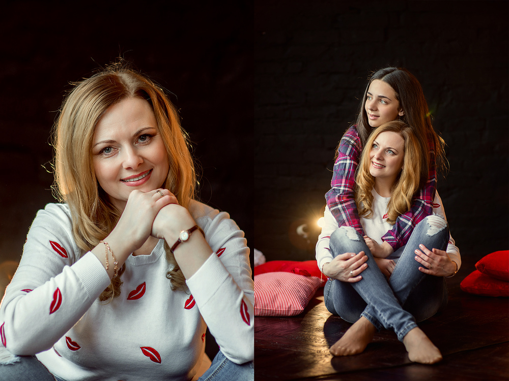 Женские портреты - Оля и Настя