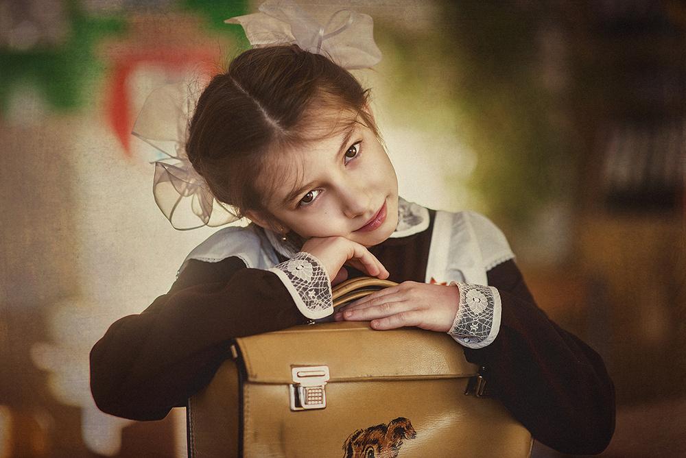 Детская фотосессия - Школьницы