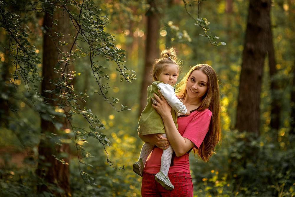 Семейные фотосессии - Лиза и мама
