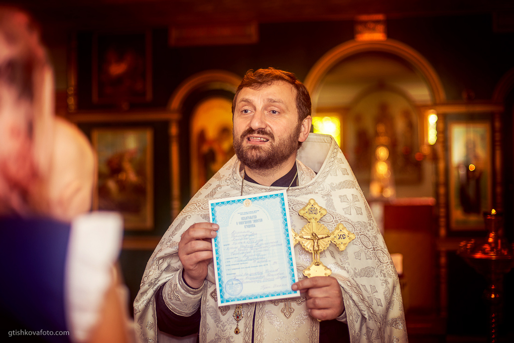 Фотосъемка крещения - Крещение Кириллы