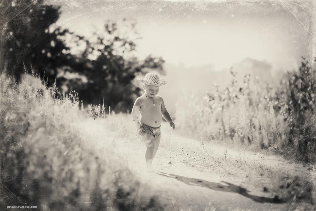 Детская фотосессия - Закат и Ромик