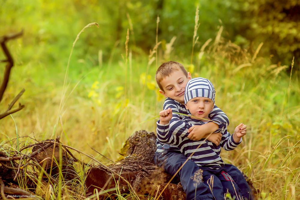 Семейные фотосессии - Дима и Женя с мамой и папой,сентябрь 2014
