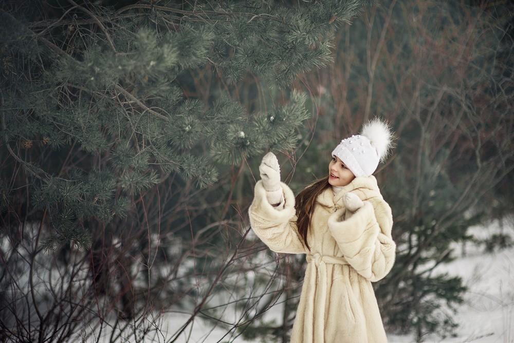 Детская фотосессия - Зима, Лера