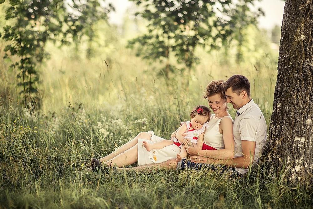Семейные фотосессии - Лизка и семья, годик