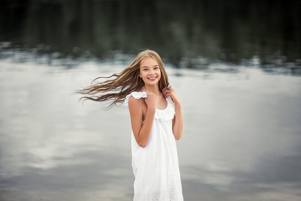 Детская фотосессия - Лера и воздух