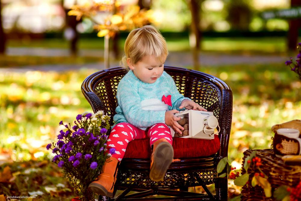 Детская фотосессия - Осеннее чаепитие, 2014