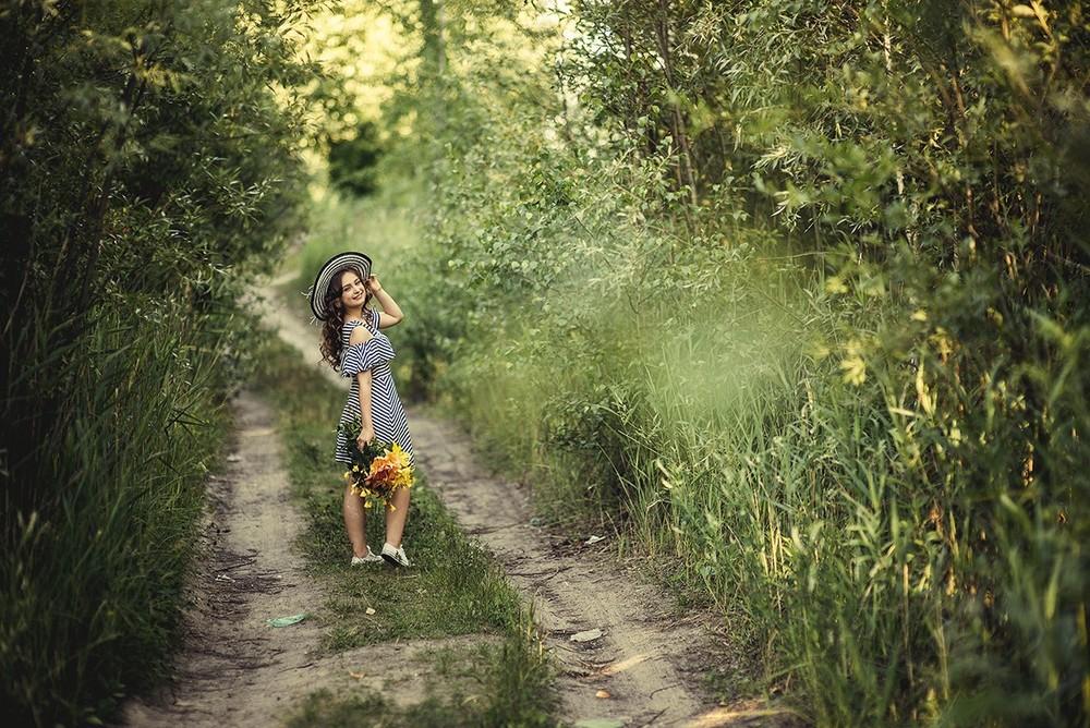 Детская фотосессия - Лиза!