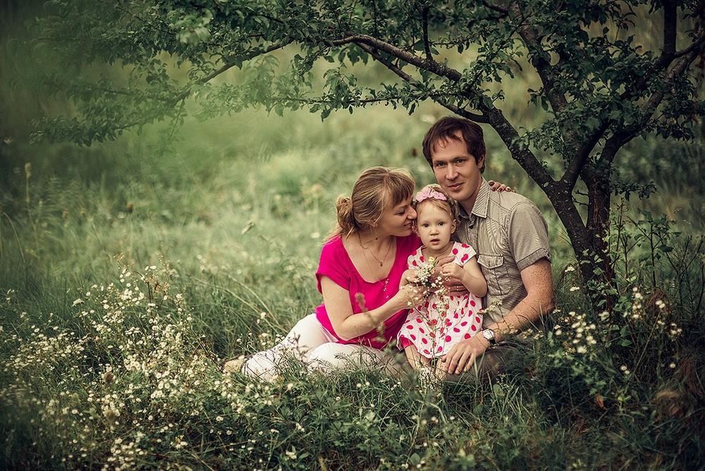 Семейные фотосессии - С яблочком!