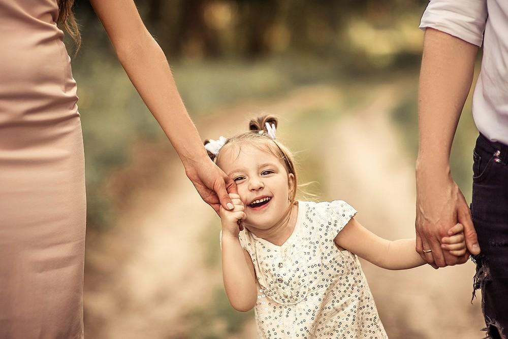 Семейные фотосессии - Оля, Лиза и папа