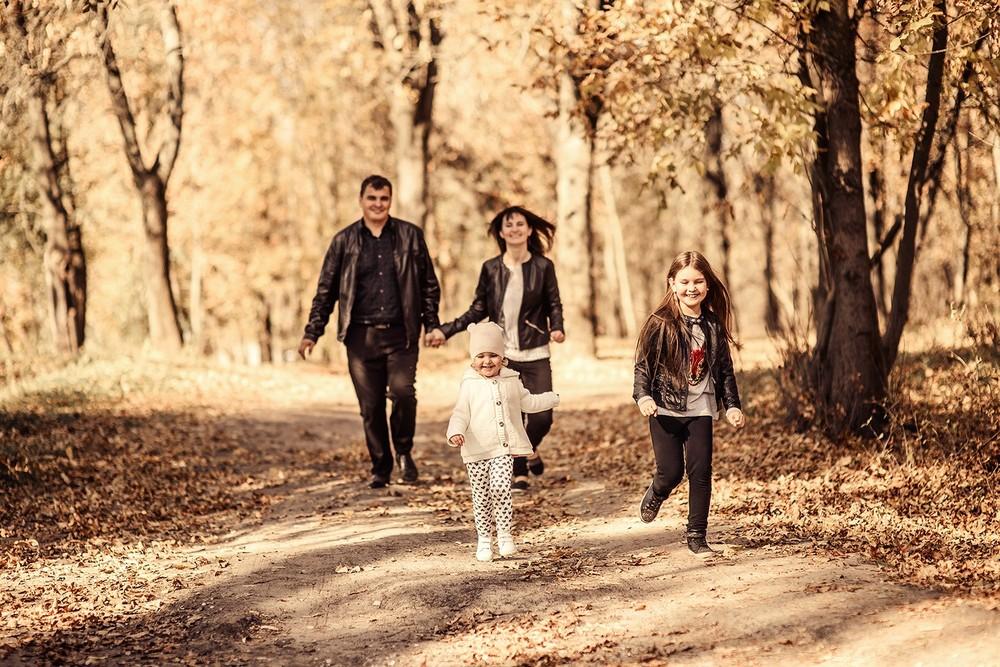 Семейные фотосессии - Осеннее счастье