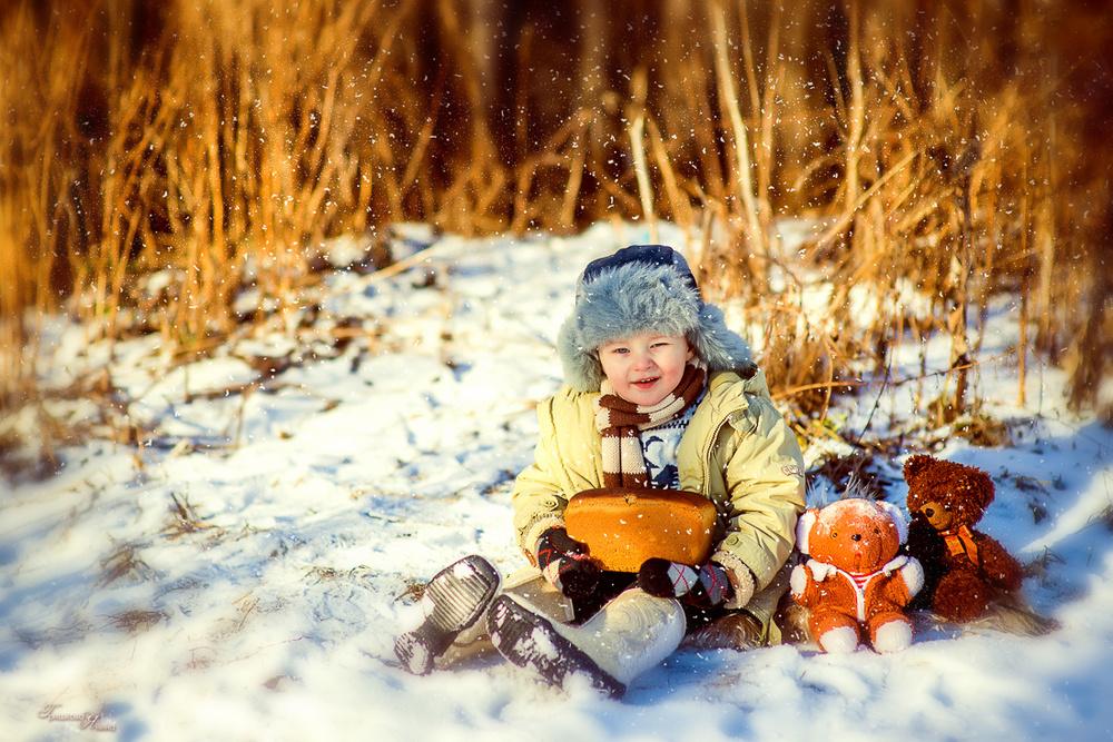 Детская фотосессия - Зимняя прогулка Ромки