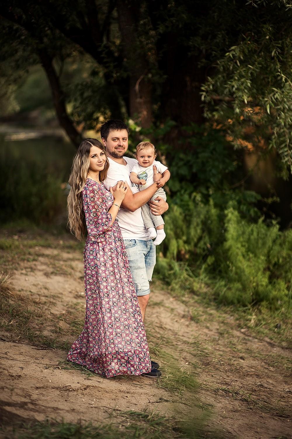 Семейные фотосессии - Мальчик Максим и семья