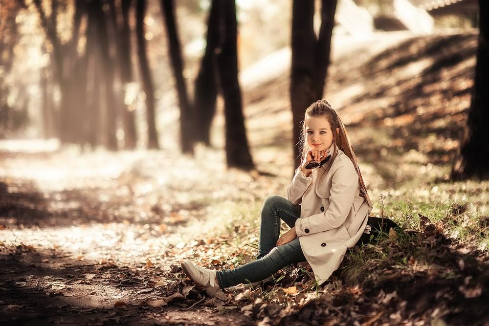 Детская фотосессия - Дашка