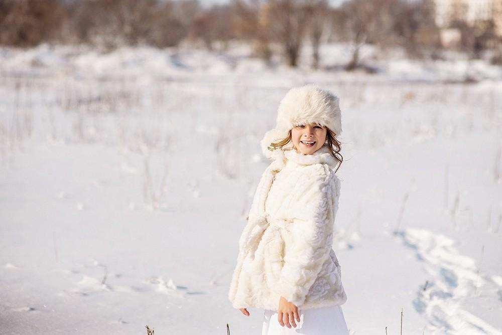 Детская фотосессия - Даша, зима