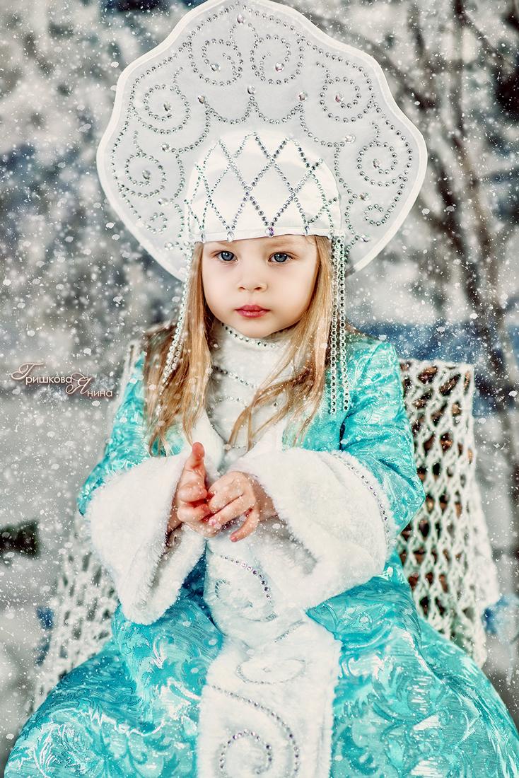 Детская фотосессия - Снегурочка