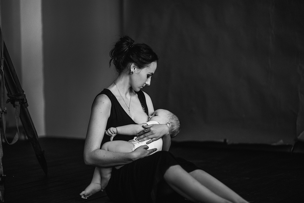 Семейные фотосессии - Минимализм. Саша и мама