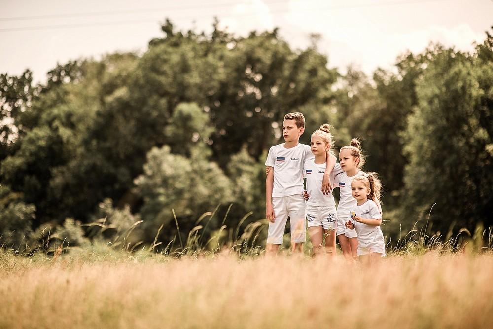 Детская фотосессия - Счастье четверное
