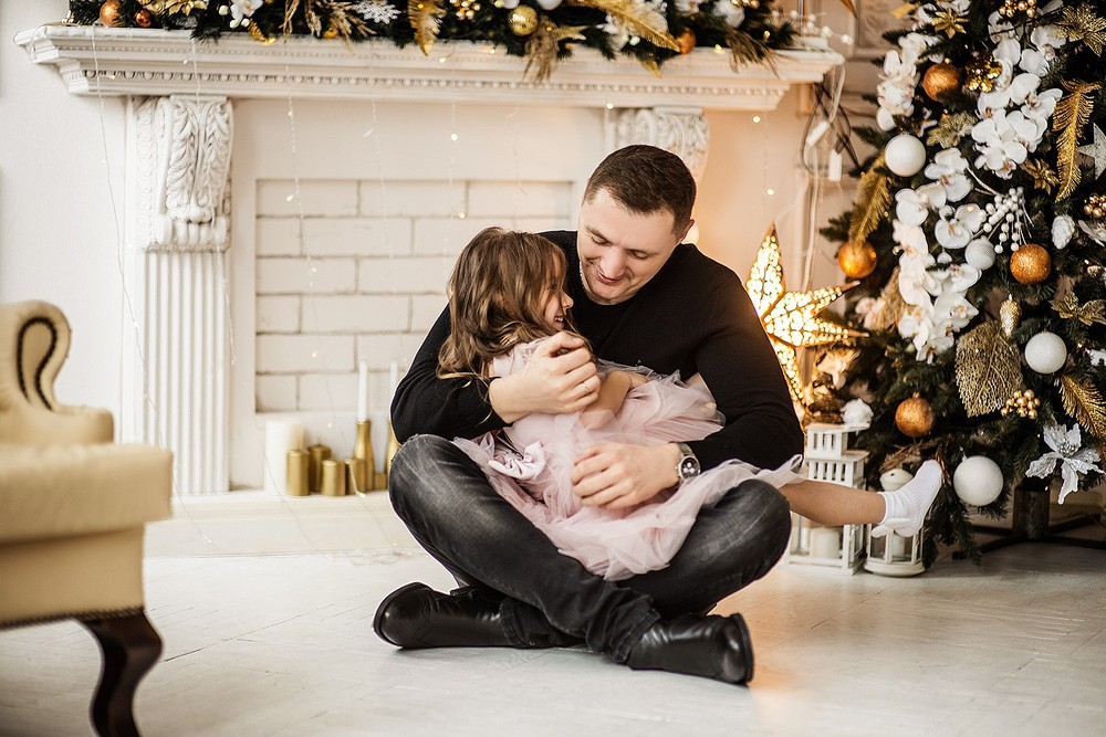 Новогодние серии - Лиза с семьёй