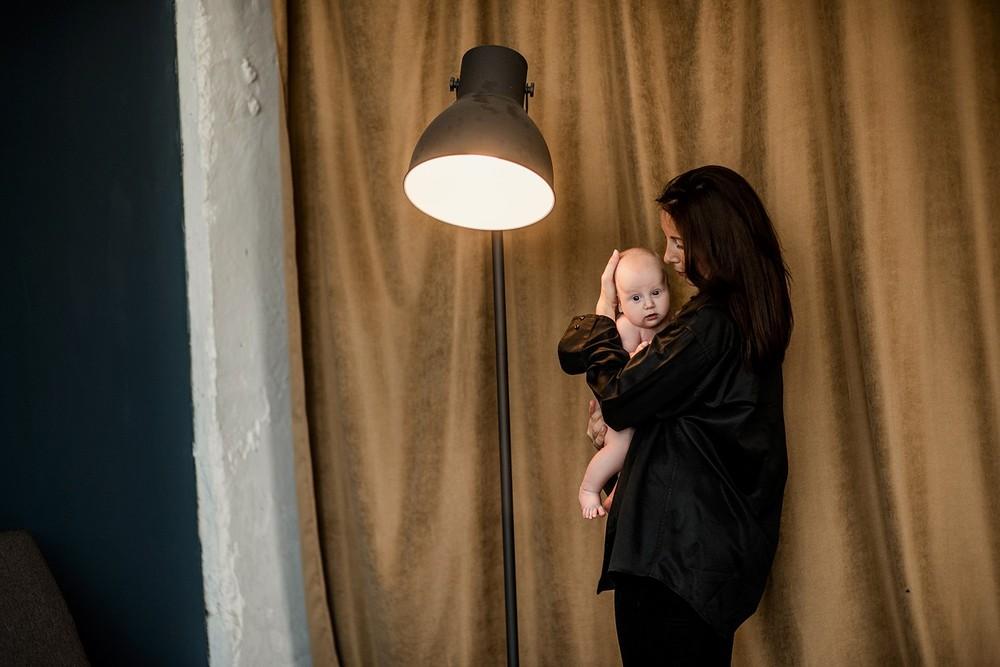 Семейные фотосессии - Ирина и сын (минимализм)