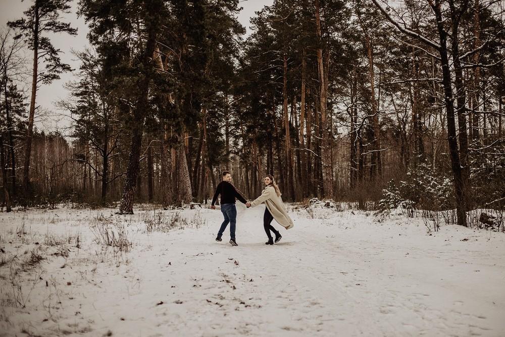 Свадебная фотосъемка и лав стори - Снежная lovestory