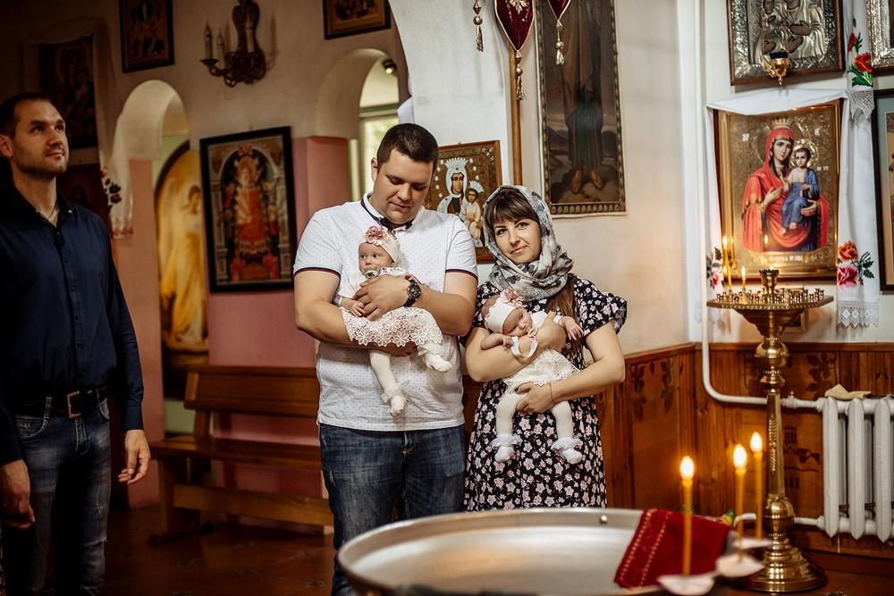 Фотосъемка крещения - Крещение двойни
