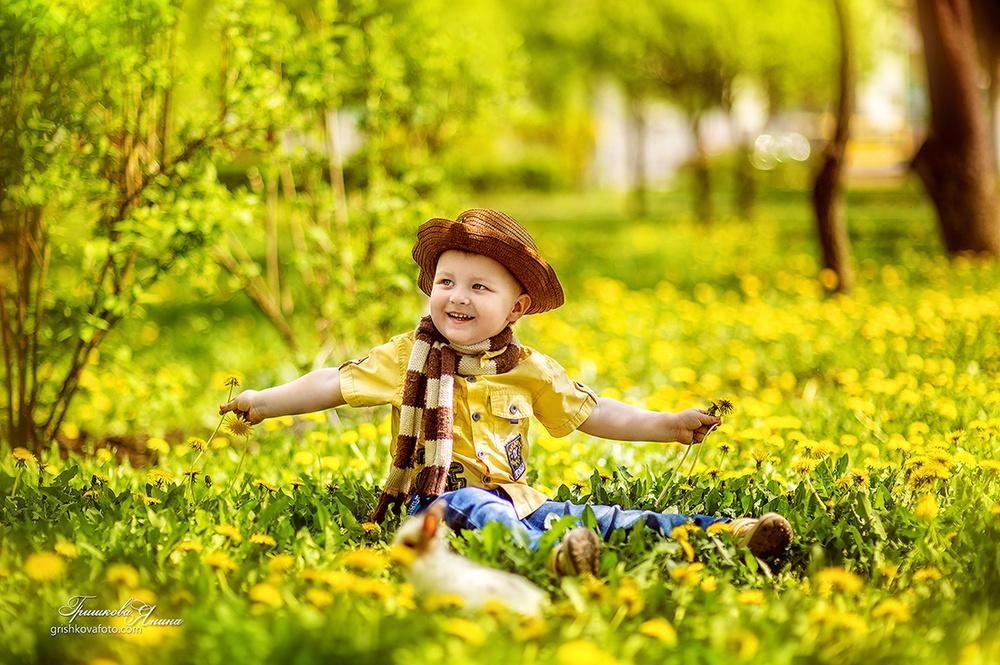 Детская фотосессия - Солнечные краски