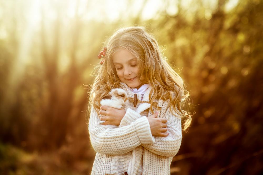 Детская фотосессия - Весенний закат( Ангелина)