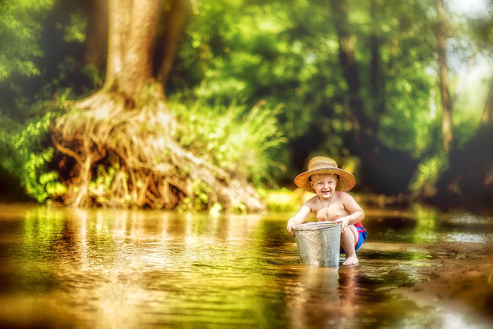 Детская фотосессия - Детство, лето, вода