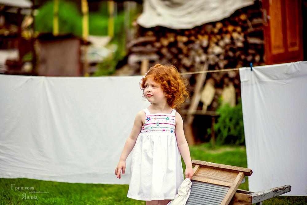 Детская фотосессия - Небольшая стирка